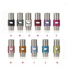 510 Stainless Steel and Aluminum Drip Tips with Adjustable Airflow Type A Green Sound
