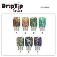 Drip Tip 510 - Colour Ripple (sklo+nerez.ocel)