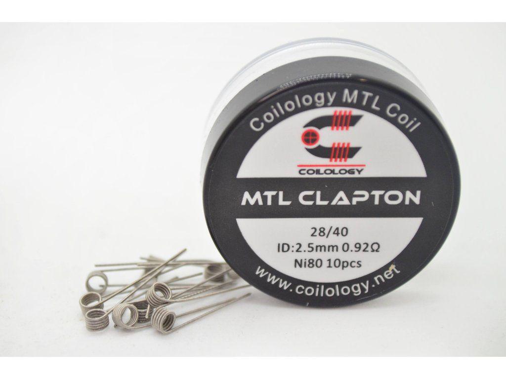 Coilology MTL CLAPTON spirálky Ni80 28GA/40GA, 0,92Ω, 10ks