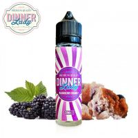 BLACKBERRY CRUMBLE - Ostružinový koláč - shake&vape Dinner Lady 20 ml