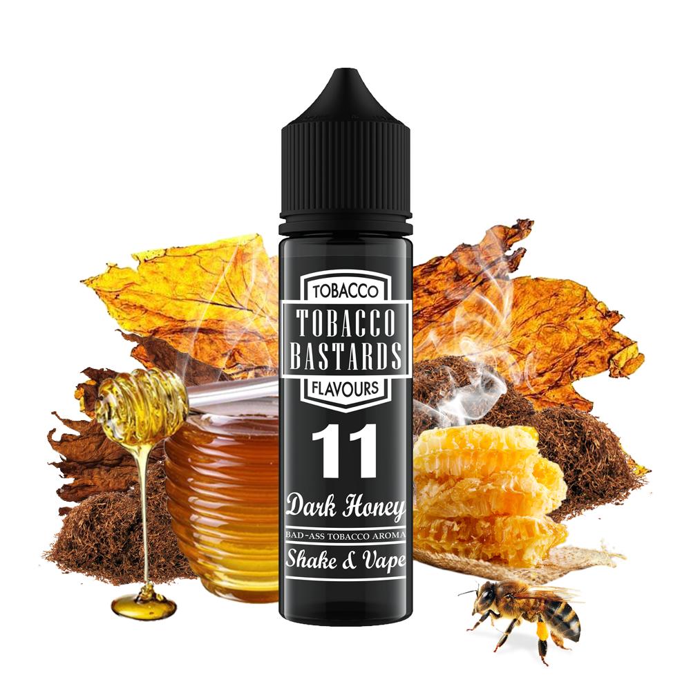 Tobacco Bastards No.11 DARK HONEY - shake&vape Flavormonks 12 ml exp.:12/19