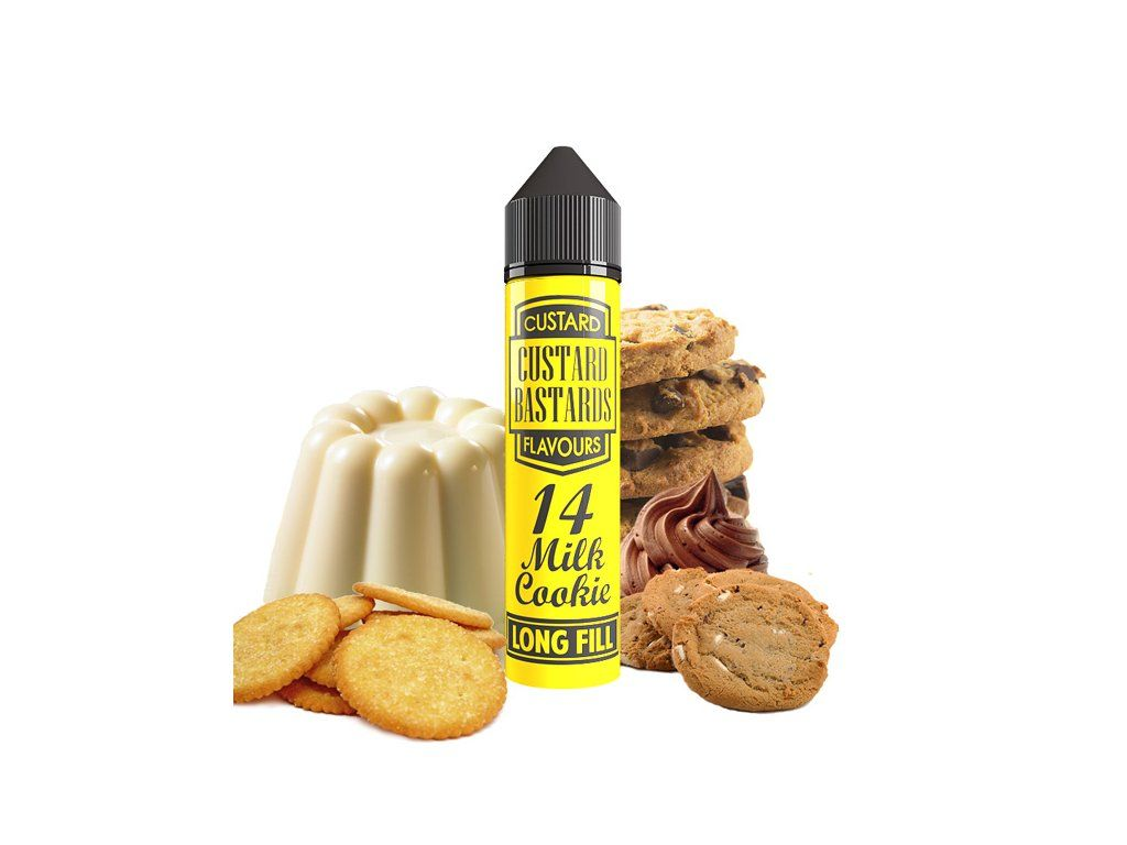 Custard Bastards No.14 MILK COOKIE - shake&vape Flavormonks 12 ml