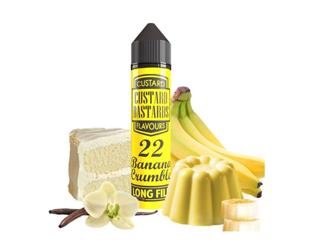 Custard Bastards No.22 BANANA CRUMBLE - shake&vape Flavormonks 12 ml