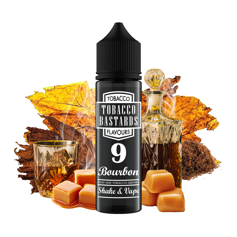 Tobacco Bastards No.09 BOURBON - shake&vape Flavormonks 12 ml