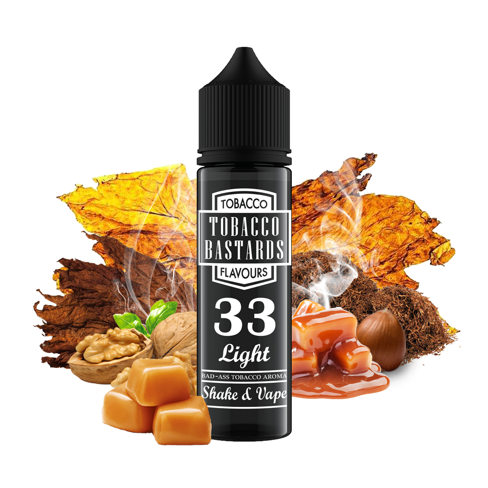 Tobacco Bastards No.33 LIGHT TOBACCO - shake&vape Flavormonks 12 ml- Doprodej
