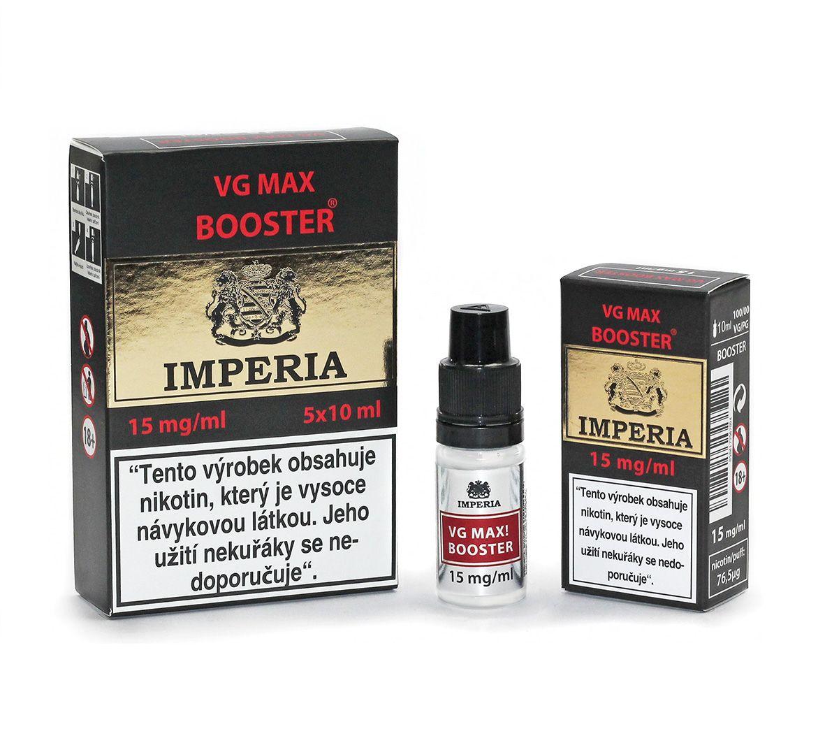 IMPERIA VG max Booster 15mg - 5x10ml (VG100%) exp. 11/20 Boudoir Samadhi s.r.o.