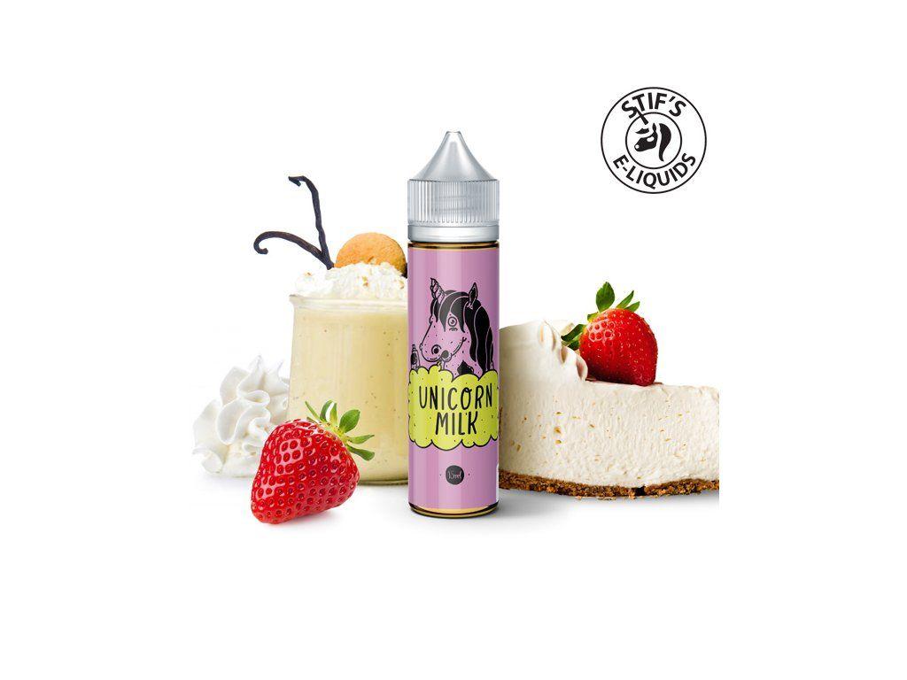 UNICORN MILK / Jahodovo-vanilkový mléčný koktejl - STIFS shake&vape 15ml