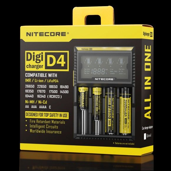 Nitecore D4 nabíječka s displejem - 4 sloty SYSMAX Industry Co., Ltd.