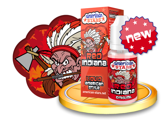 RED INDIANA - e-liquid American Stars 10ml Flavourtec