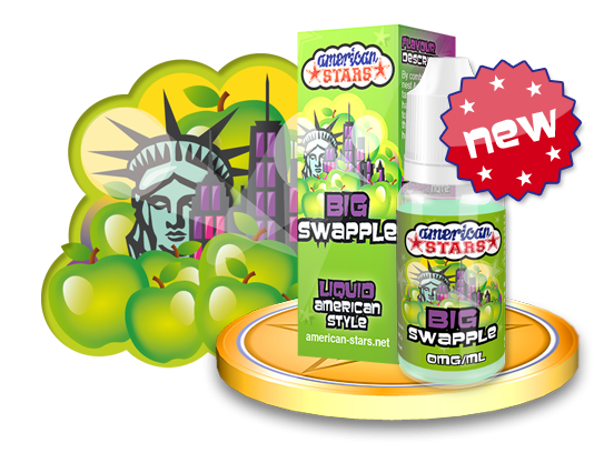 BIG SWAPPLE - e-liquid American Stars 10ml Flavourtec