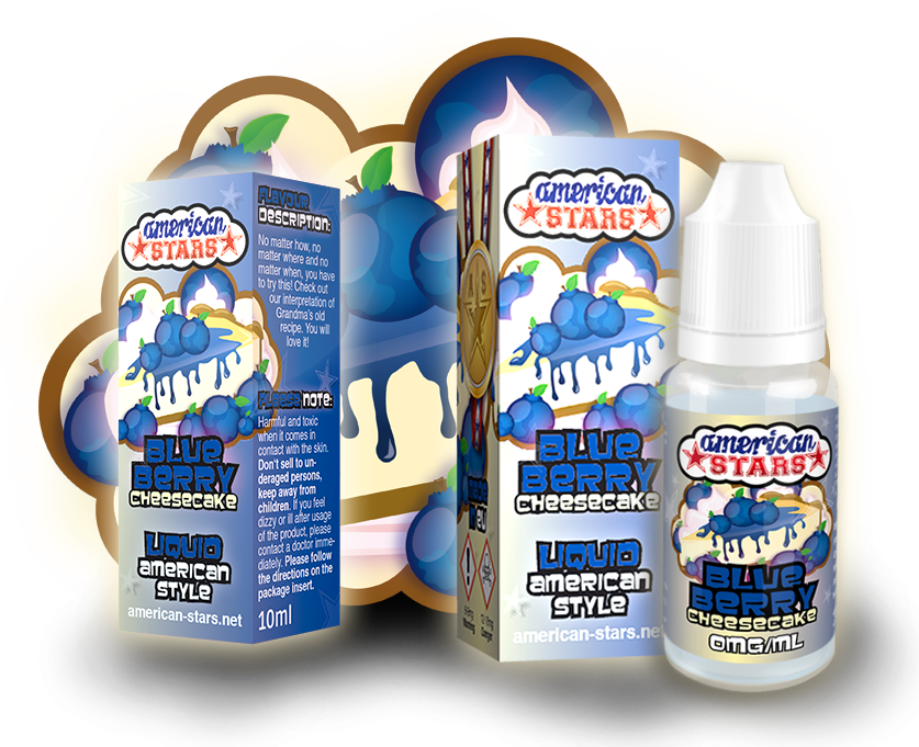 BLUEBERRY CHEESECAKE - e-liquid American Stars 10ml Flavourtec